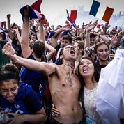Les étudiants fêtent leur première Coupe du monde
