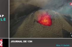 Zapping TV : les images impressionnantes de l'éruption du Piton de la Fournaise