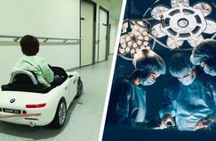 Au CHU de Dijon, les enfants vont au bloc opératoire en voiture électrique