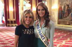Miss France 2018 : Maëva Coucke visite l'Élysée en compagnie de Brigitte Macron