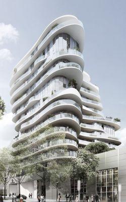 Voici le premier immeuble con u par un architecte chinois for Architecture parametrique