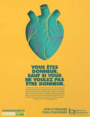 La campagne de l'agence de biomédecine pour informer sur la loi de janvier 2016