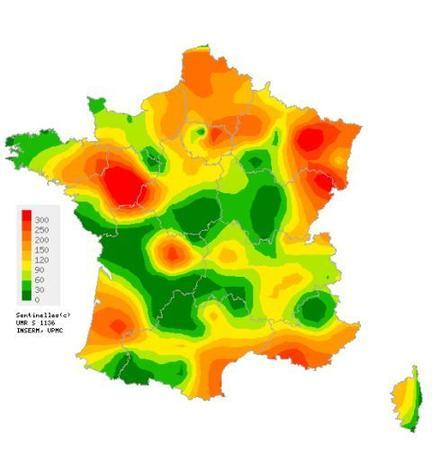 Entre le 13 et le 19 novembre, la gastro-entérite a particulièrement touché les régions Pays de la Loire, PACA et Grand Est (nombre de cas pour 100 000 habitants).