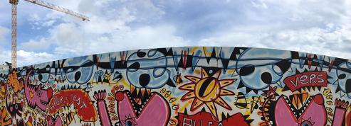 À Nice, les grands chantiers se cachent derrière du street art