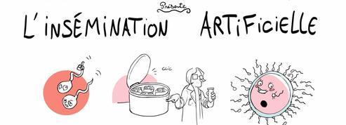 L'insémination artificielle expliquée en dessin