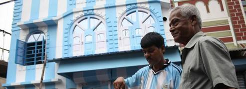 En Inde, un fan de Messi repeint sa maison aux couleurs de l'Argentine