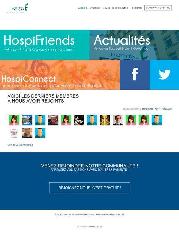 Les hôpitaux peuvent utiliser l'application pour communiquer avec les patients.
