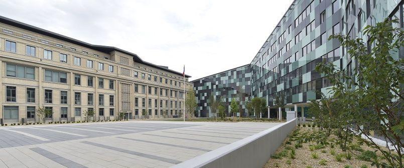 Construction du ministère de la Défense - Balard. Paris. 75015. 3 juillet 2015