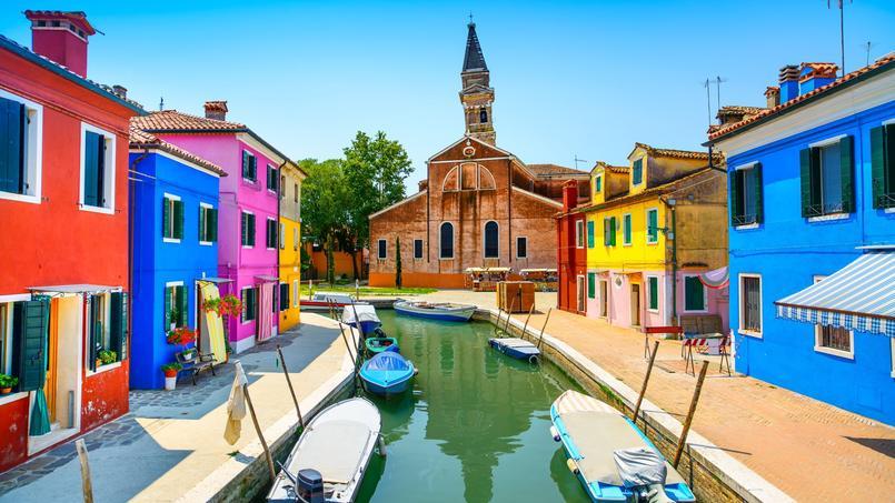 Le village de pêcheurs de Burano, à côté de Venise.