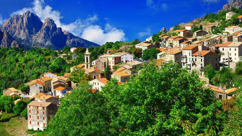 Vue du village d'Evisa, en Corse du Sud.