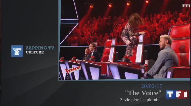 Zapping TV : L'étrange moment de folie de Zazie dans The Voice