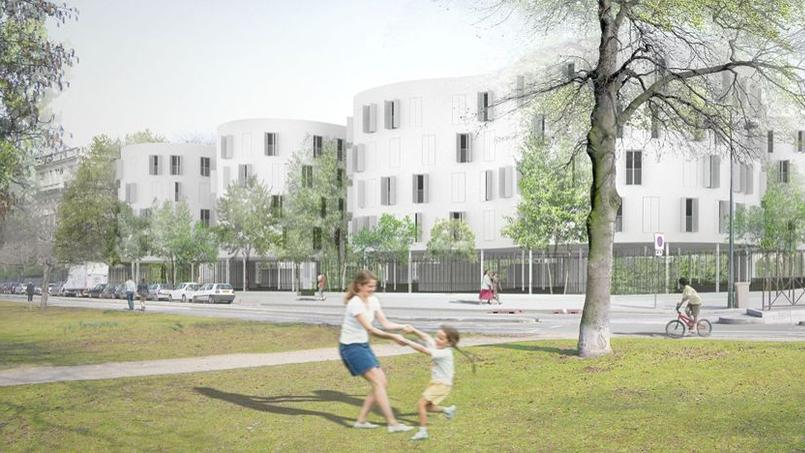 Le projet de 100 logements sociaux, avenue du Maréchal-Fayolle, dans le 16e arrondissement de Paris