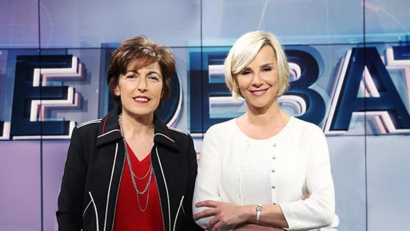 «Ce sera un défi historique», confie Laurence Ferrari (à droite), coanimatrice du débat avec Ruth Elkrief (à gauche)