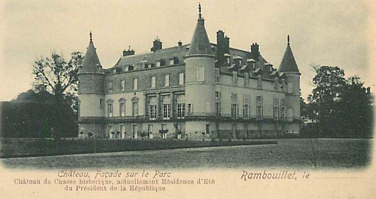 Le château de Rambouillet dans les années 1900.