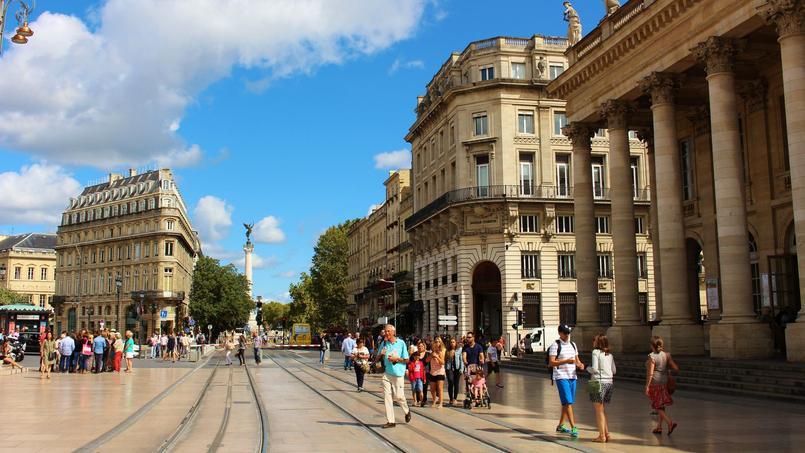 Une vue de Bordeaux.