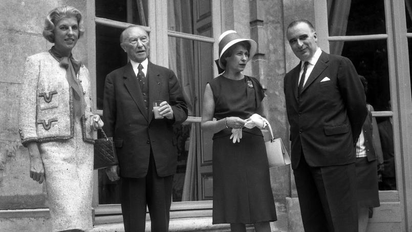 Adenauer et  Pompidou