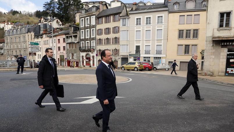 Photo d'archives: François Hollande à Tulle en mars 2014.