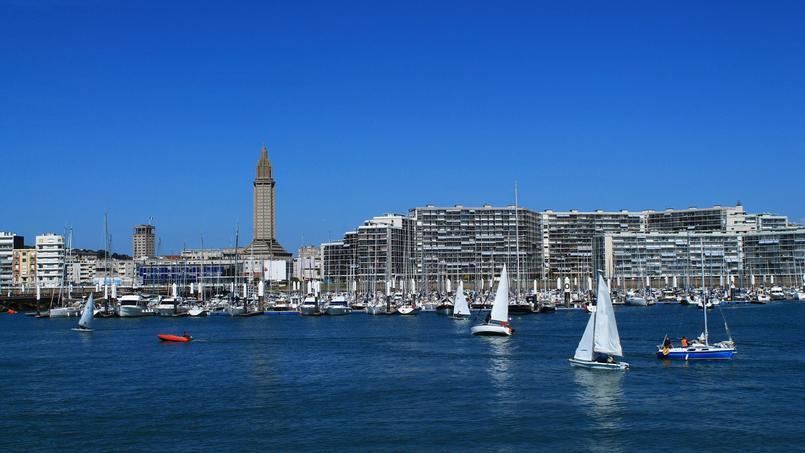 Vue sur la ville du Havre (Seine-Maritime)