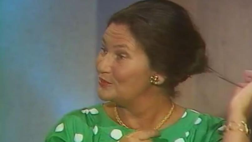 Simone Veil sur le plateau de Toutes folles de lui, sur France 2 en 1986