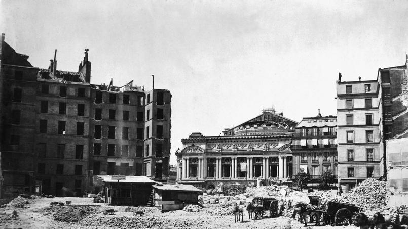 Les grands travaux haussmanniens a Paris : avenue de l'Opera