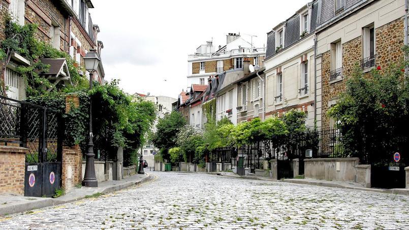 Vue du quartier de la Campagne à Paris.