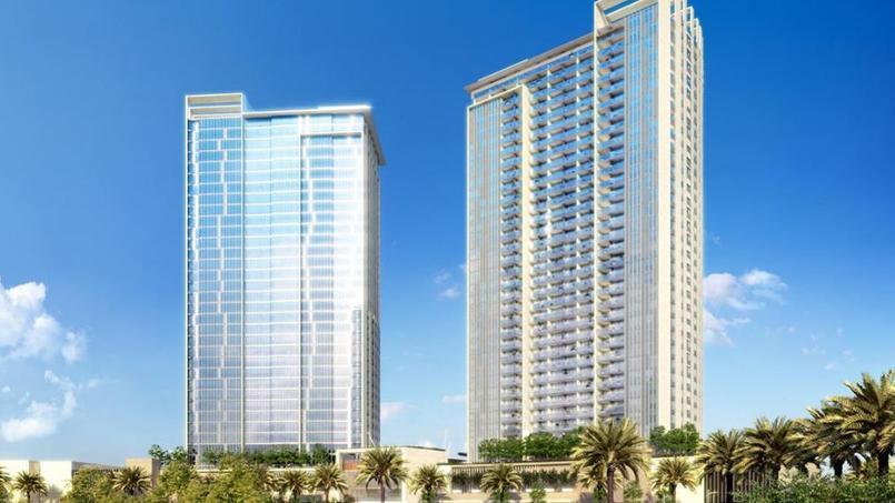 Le programme immobilier compte 2 tours de 40 étages. Crédit: Aston Plaza & Residence.