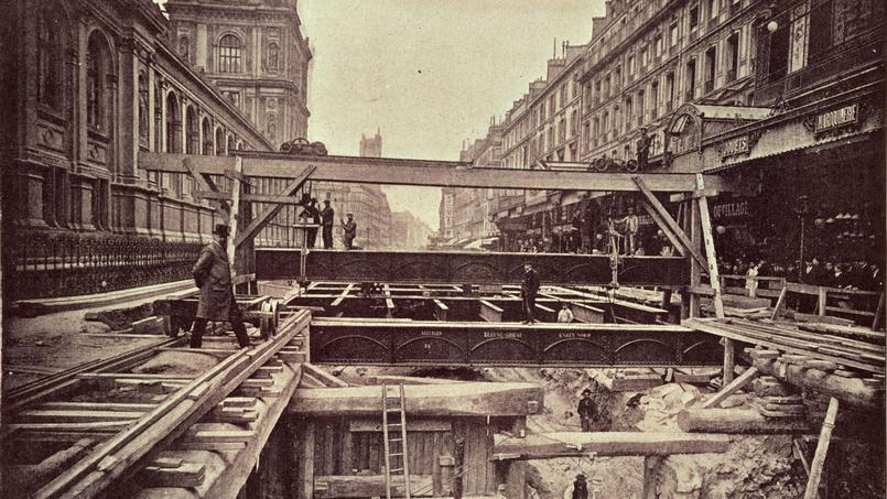 Il y a 118 ans... la dernière ligne droite du chantier du métro parisien