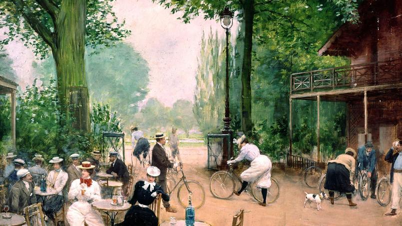 Le chalet du cycle au Bois de Boulogne, tableau de Jean Beraud, vers 1900.
