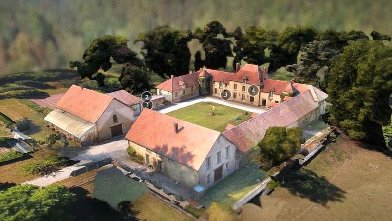 Le domaine de Meriel (Seine et Oise) visualisé par Explorimmo 3D avec Parrot air support  <i>(animation ci-dessous)</i>.