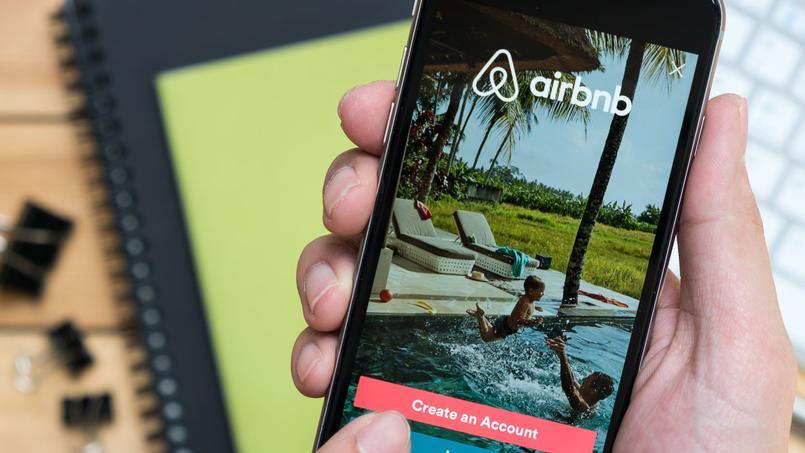 Une capture d'écran de l'application mobile d'Airbnb, photo d'illustration.