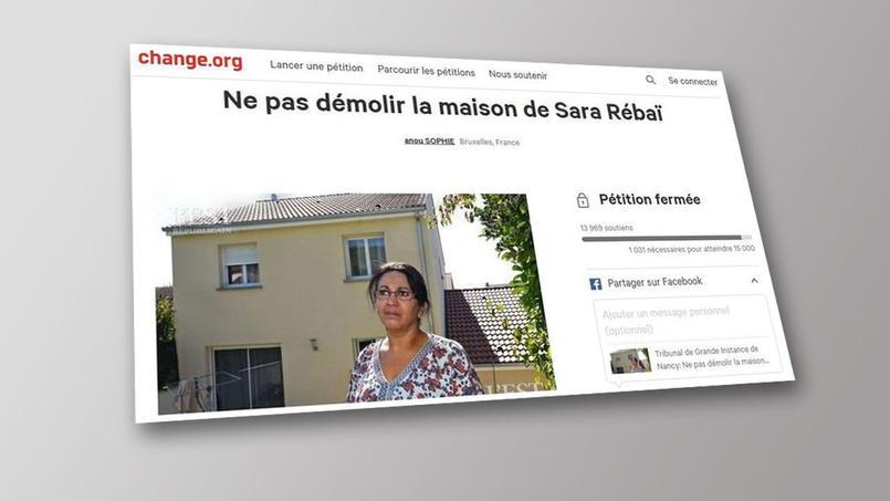 La première pétition lancée par Sara Rébaï il y a un an qui avait réuni près de 14 000 signatures. Elle envisage d'en ouvrir une nouvelle. Capture d'écran du site change.org.