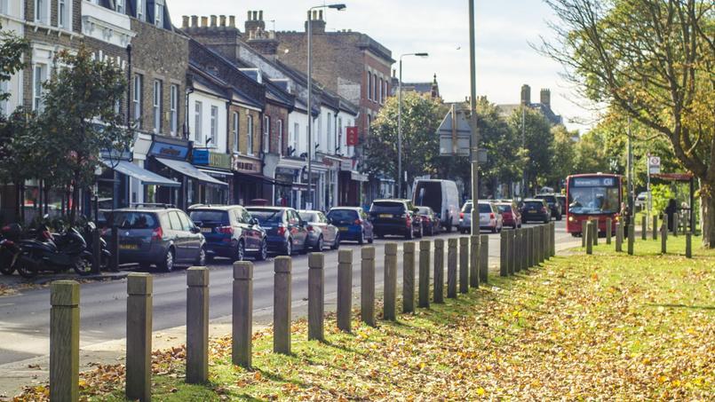 Vue d'un quartier du district de Wandsworth, au sud-ouest de Londres.
