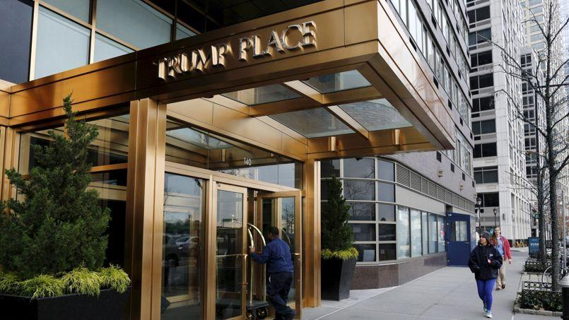 A Trump Place building is seen in New York