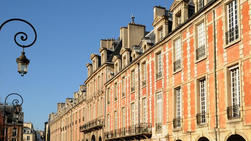 Photo d'illustration de la place des Vosges, à Paris.
