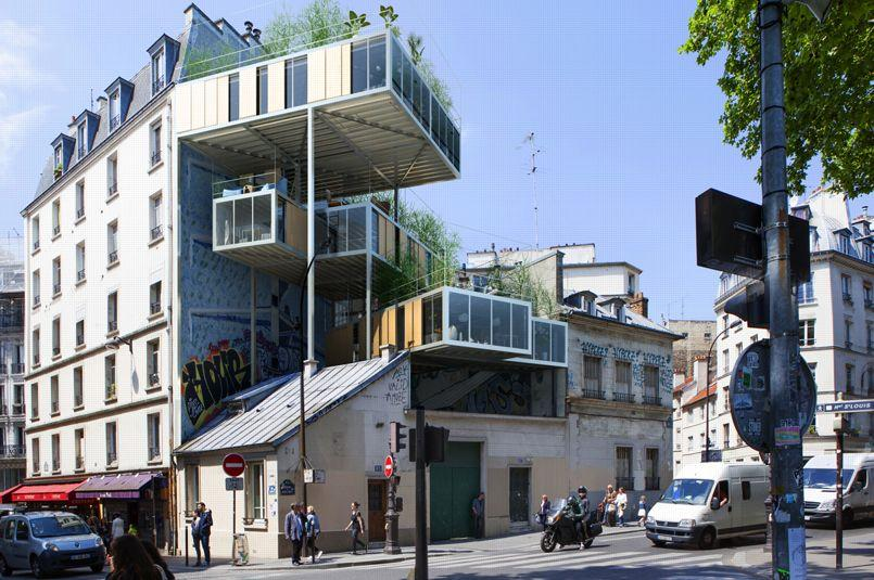 Des architectes veulent b tir sur les toits de paris for Architecture ancienne