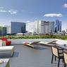 L'immeuble comprend 4 terrasses privatives de ce genre pour ses plus grands appartements  des derniers niveaux.