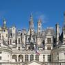 Le château de Chambord est également bien pourvu en élégantes cheminées.