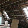 <b>AVANT.</b> De grandes ouvertures ont été réalisées dans la toiture à l'arrière de l'immeuble.
