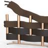 Coup de cœur du jury, le radiateur «Natte» est constitué de tubes chauffants et de panneaux rayonnants mais aussi de bandes textiles détachables.
