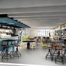 <b>APRÈS.</b> Vue générale du futur business café.