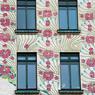 Détail de la maison des majoliques, à Vienne, œuvre de l'architecte et urbaniste Otto Wagner.