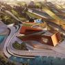 Vue aérienne du projet de Centre culturel dédié au 7e art.