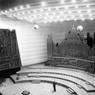 Inauguration de la Maison de la Radio : la salle de concert avec orgue le 11 décembre 1963.