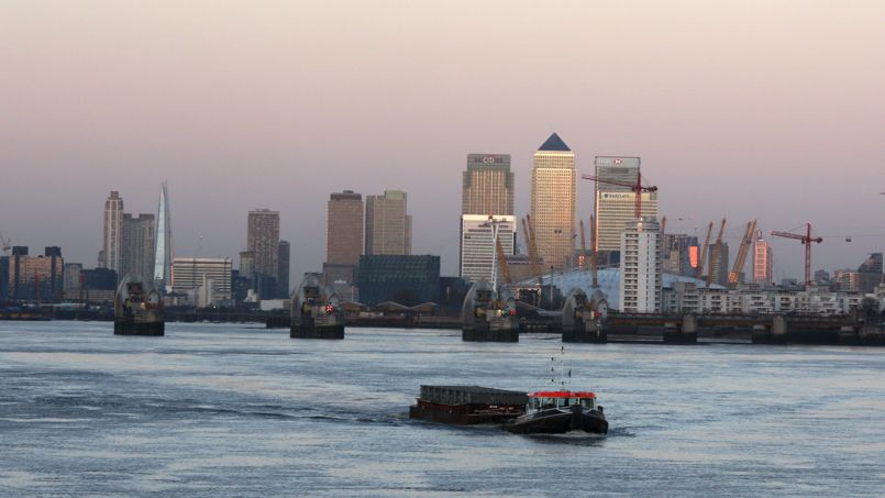 Canary Wharf, avec ses gratte-ciel aux couleurs des géants de la finance mondiale comme Barclays ou Citigroup, est un symbole de la domination de Londres sur la finance européenne. Crédit: Russel Boyce/Reuters