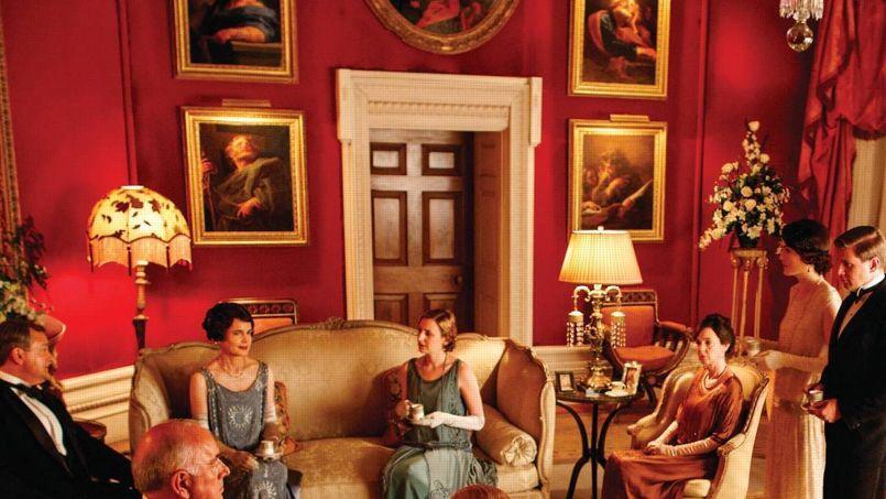 Capture d'écran de la série Downton Abbey. (DR).