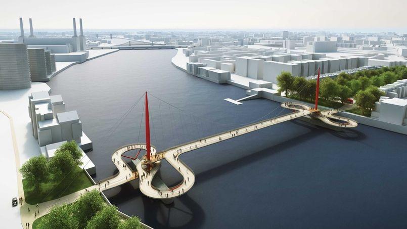 les projets les plus fous pour le nouveau pont de londres. Black Bedroom Furniture Sets. Home Design Ideas