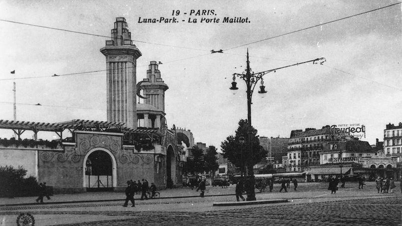 il y a 105 ans le figaro s 233 merveillait devant le park de la porte maillot