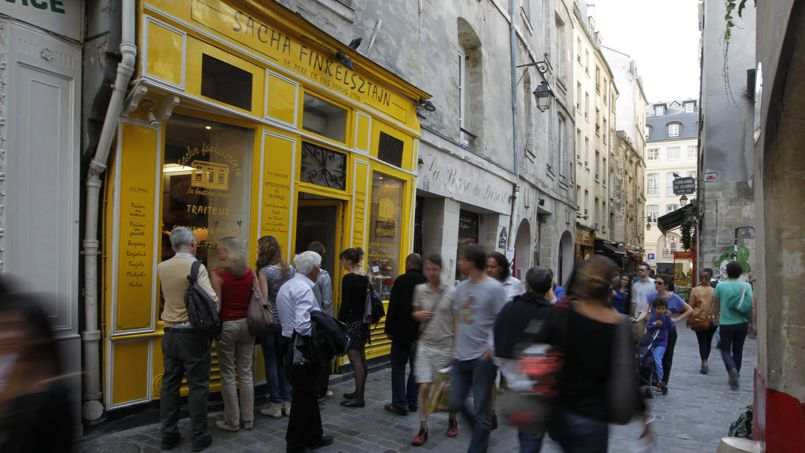 Le quartier du Marais présente la plus forte concentration de meublés touristiques de la capitale.                 <br/>                 Crédit: S. Soriano/Le Figaro