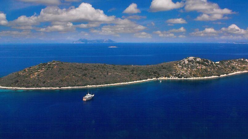 Lîle de Gaïa, dans l'archipel des échinades. Crédit: Private Islands Online.