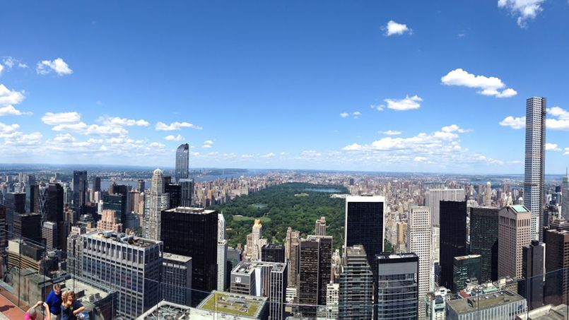 Une vue panoramique de New York, depuis le Rock Observation Deck.